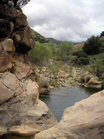 River Beyond Big Caliente Hot Spring
