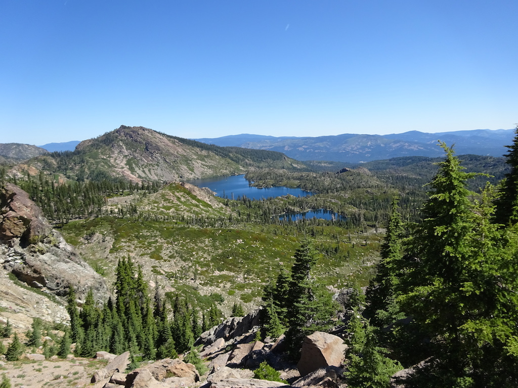 The Lakes Basin near the Sierra Buttes taken from the PCT